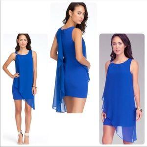 BEBE drape sleeve dress